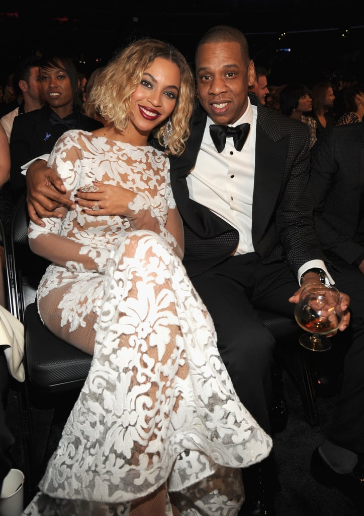 Jay Z and Beyoncé sat together during the Grammys.