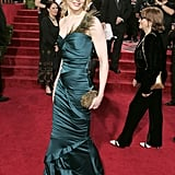 Nicole wearing Gucci at the 2005 Golden Globe Awards.