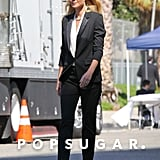 Gwyneth Paltrow shot an ad campaign for Hugo Boss in LA on Monday.