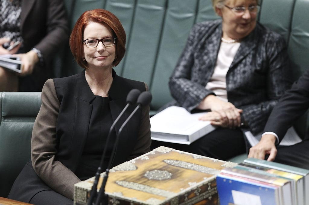 Julia Gillard during question time at Parliament House on