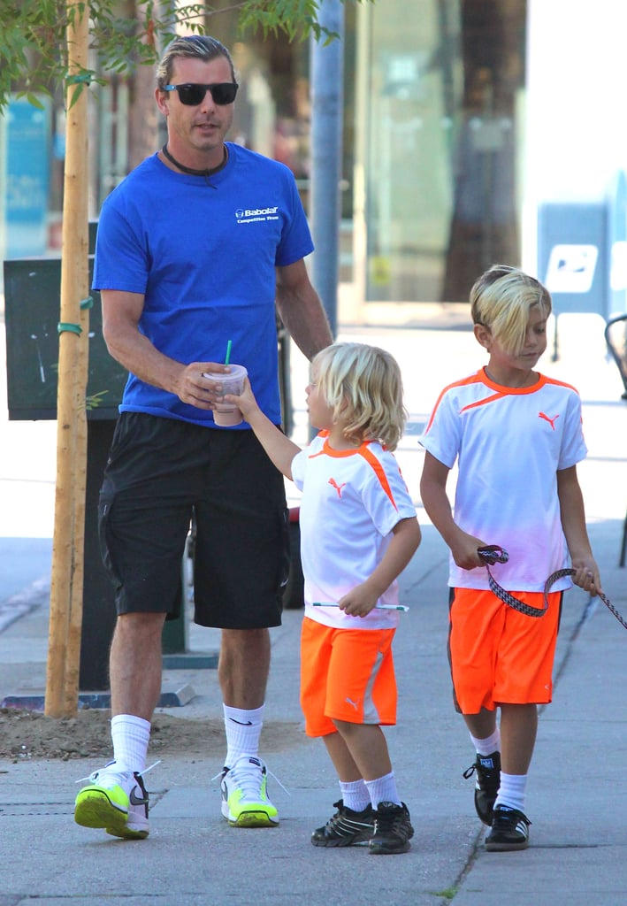 Gavin Rossdale made a coffee run with his sons after soccer practice in LA.
