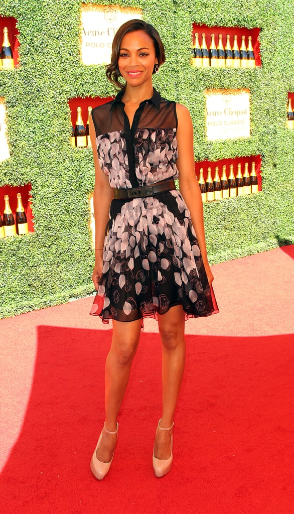 We loved spotting Zoe in this ultrafeminine Jason Wu shirtdress at the Veuve Clicquot Polo Classic in LA in 2011 — so cute!