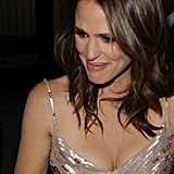 Jennifer Garner signed autographs before the  InStyle and HFPA party.