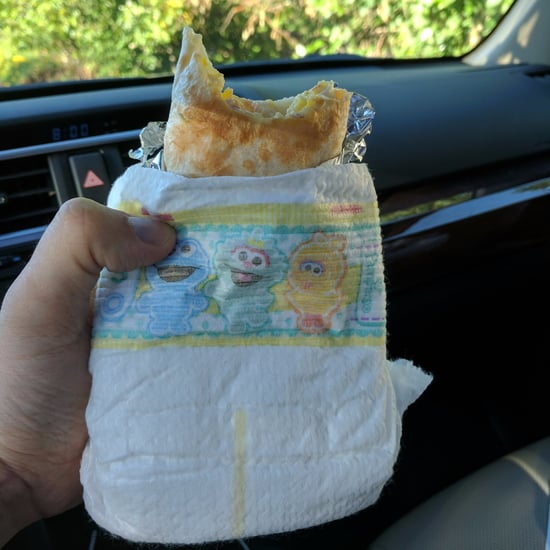 Dad Wraps His Breakfast Burrito in a Diaper