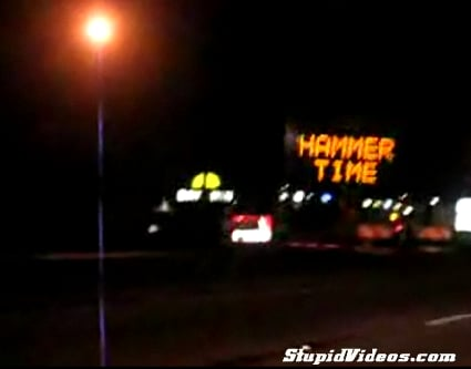 Hammer Time Stop Sign