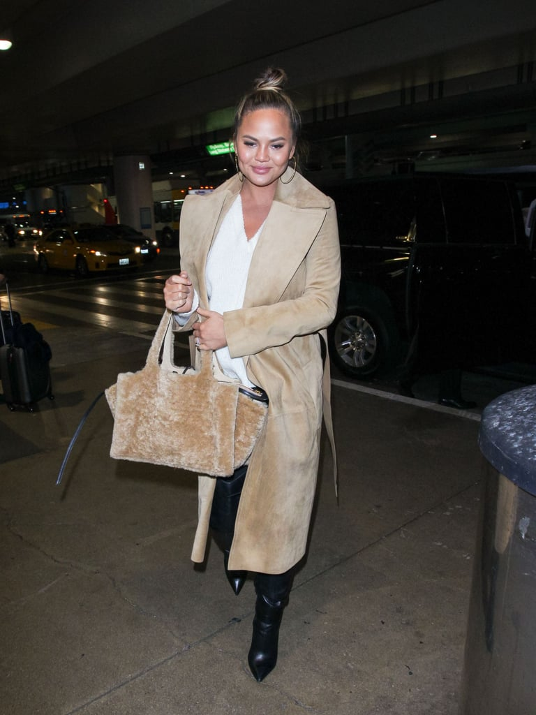 Chrissy Teigen's Fur Tote Bag