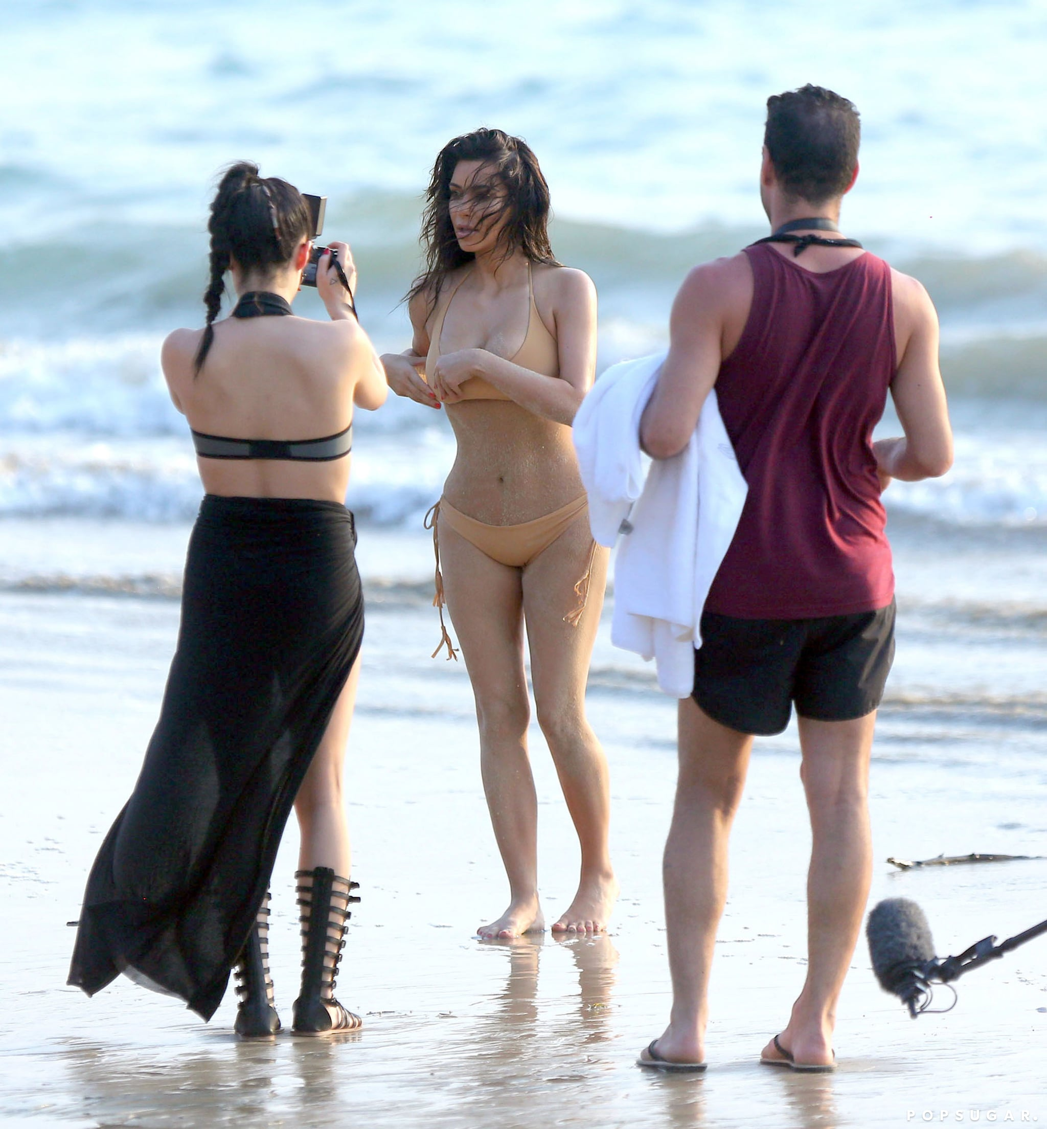 You Can't Miss Kim Kardashian's Thong-Bikini Photo Shoot
