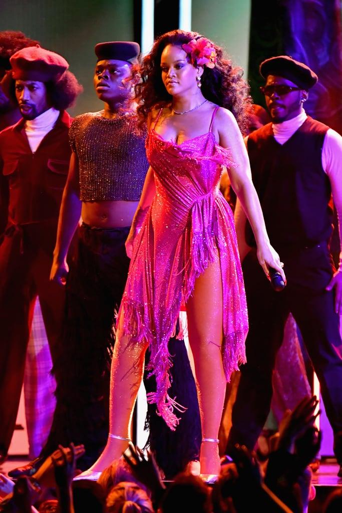 Rihanna Wearing Pink Dress At Grammys 2018 Popsugar