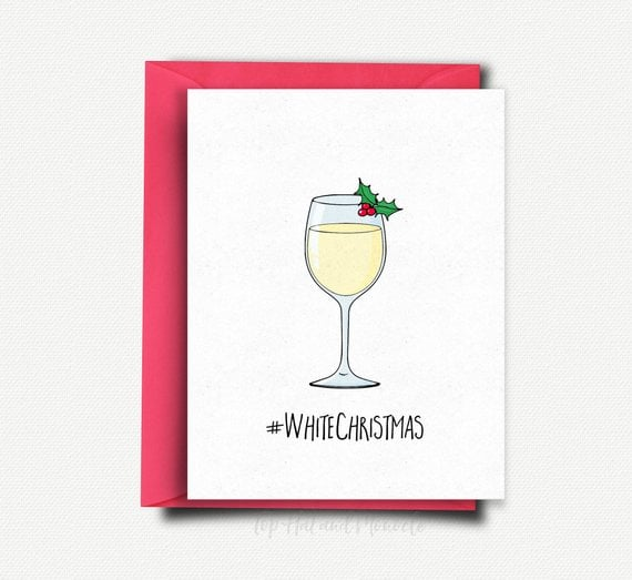 wine christmas card - Wine Christmas