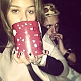 Isabelle Cornish used a mug the size of her head. Source: Instagram user isabellecornishh