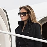 Melania completed her Norisol Ferrari coat with a pair of Gucci sunglasses at the Arlington National Ceremony, causing some Twitter users to question her fashion choice and lack of respect, since she was shielding her eyes.