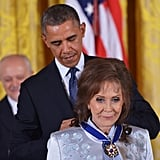 President Obama recognized country music legend Loretta Lynn.