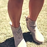 Light gray boots made for walkin' and dancing.