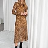 & Other Stories Sheer Leopard-Print Midi Dress