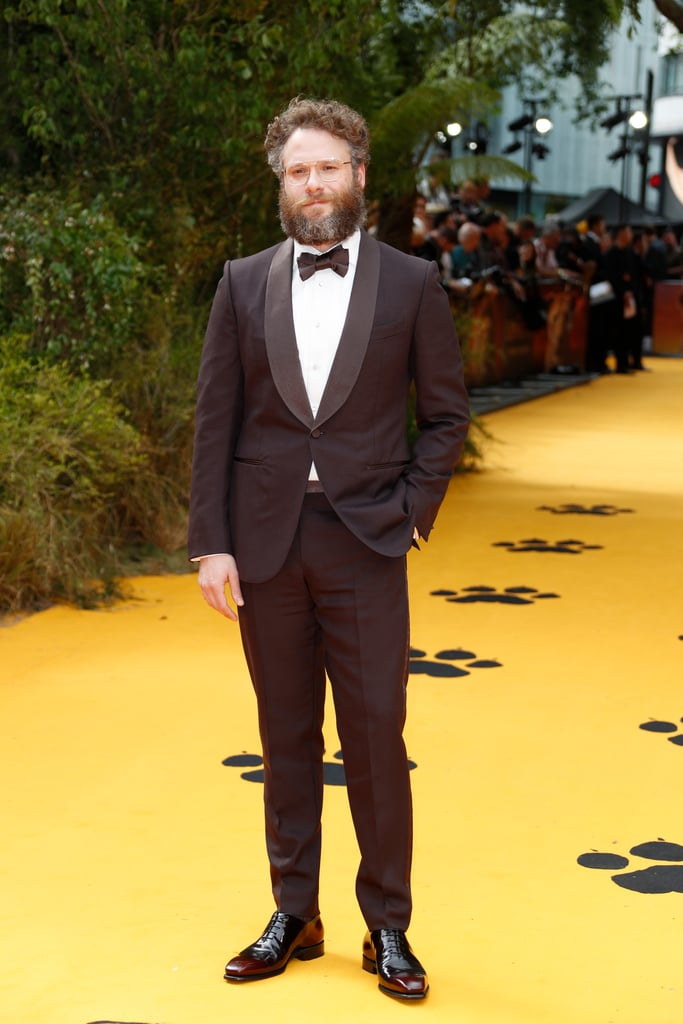 Pictured: Seth Rogen at The Lion King premiere in London.