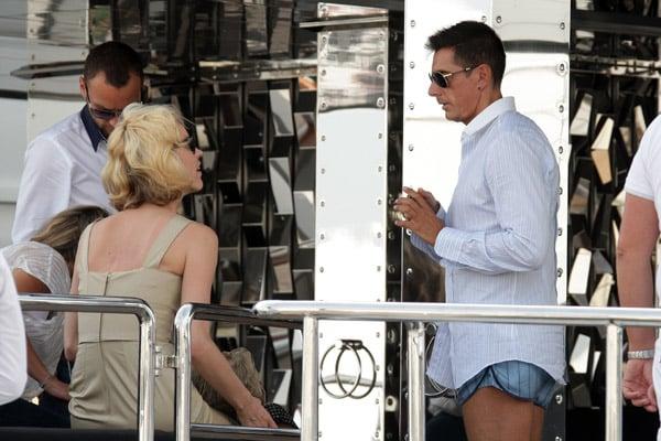 May 22: Eva Herzigova and Stefano Gabbana on his yacht, Regina D'Italia