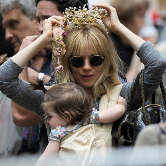 Sienna Miller and Marlowe Sturridge at the Flea Market