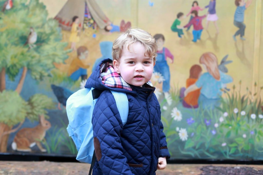 The 2-year-old began his first day of preschool at the Westacre Montessori School in Norfolk in January.