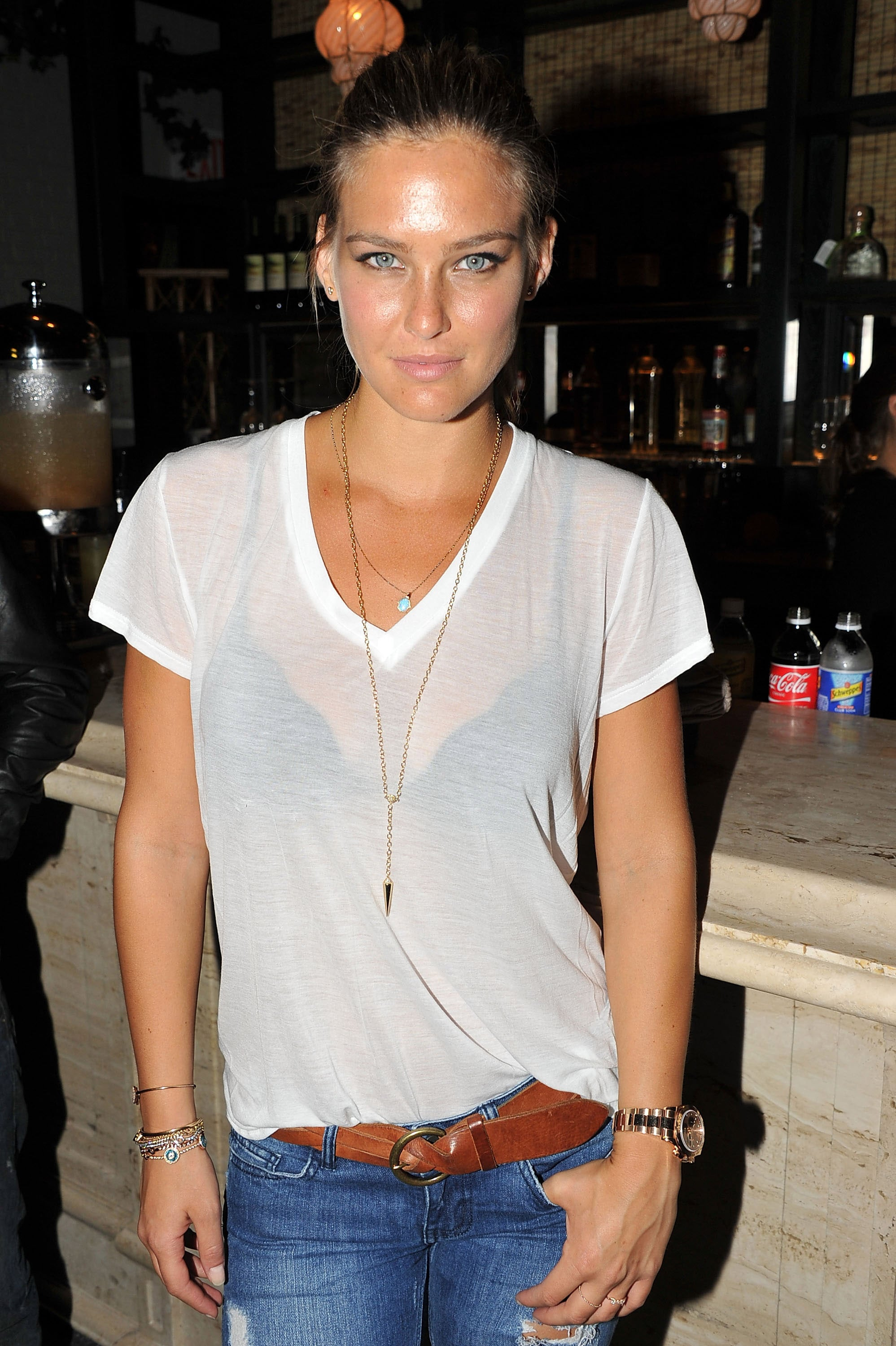 Bar Refaeli at Tommy Hilfiger's dinner.