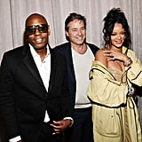 Dave Chappelle, Guest, and Rihanna at the 2020 Roc Nation Brunch in LA