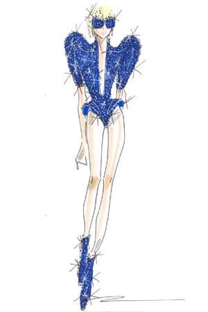 Giorgio Armani Creates Costumes For Lady Gaga's Monster Ball Concert Tour