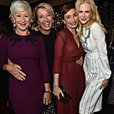 With Helen Mirren, Kristin Scott Thomas, and Nicole Kidman