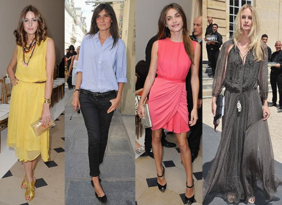 Pictures of Celebrities Front Row at 2011 Paris Haute Couture Fashion Week Inc Olivia Palermo, Emmanuelle Alt and Anna Wintour