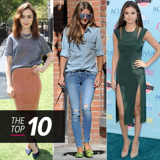 Top 10 Best Dressed Of The Week: Midi Skirts, Double Denim & Thigh-High Splits