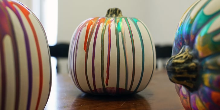 Put Down the Carving Tools, This Marbled-Pumpkin DIY Is the New Jack-o'-Lantern