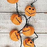 Jack-o'-Lantern Burlap String Lights