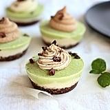 Vegan White Chocolate Peppermint Cheesecake