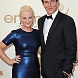 Amy Poehler on the Emmys red carpet with Will Arnett.