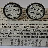 Lord of the Rings Literature Cufflinks ($23)