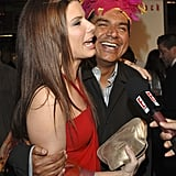 George Lopez stepped out in March 2005 to support Sandra Bullock at the LA premiere of Miss Congeniality 2.
