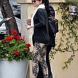 Selena Gomez wore her hair in a ponytail for lunch with her mom in LA.