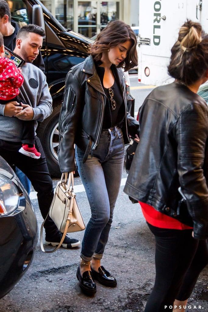 Selena Gomez Fringe Leather Jacket