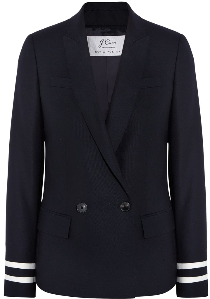Comero Striped Wool-Piqué Blazer ($325)