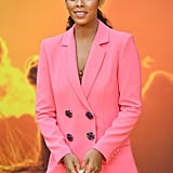 Pictured: Rochelle Humes at The Lion King premiere in London.