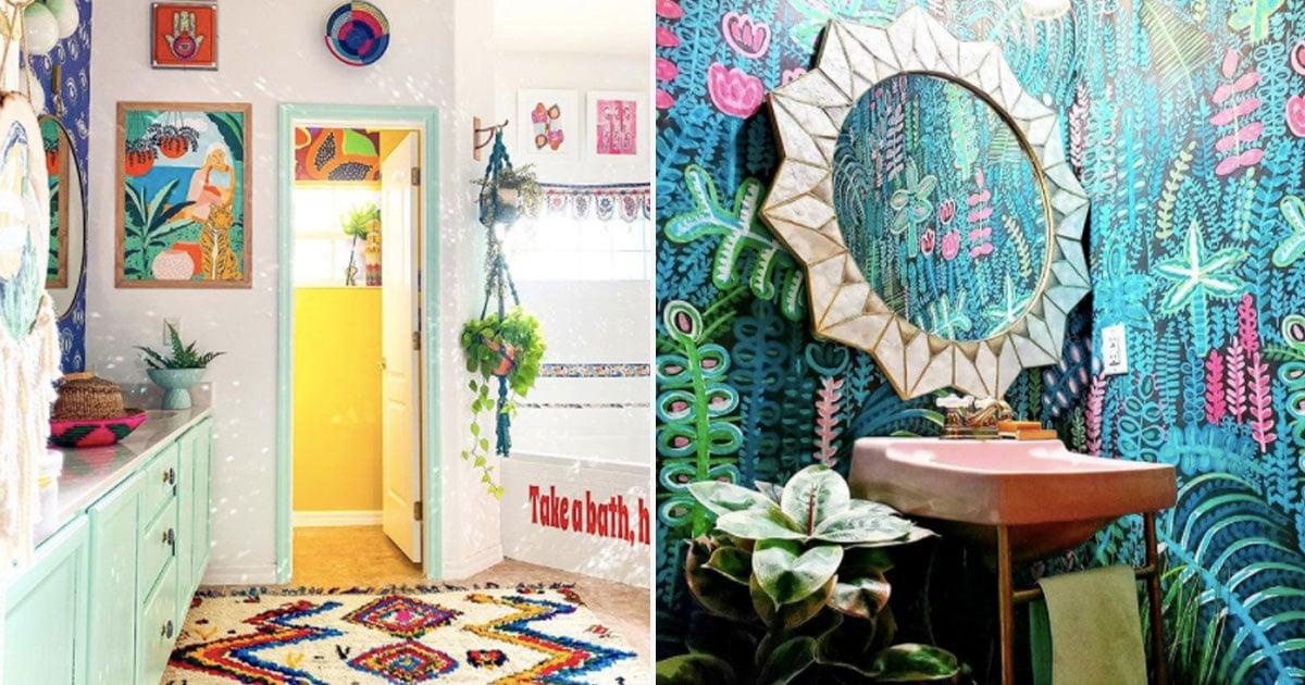 Colorful Bathroom Decor Ideas Popsugar Home
