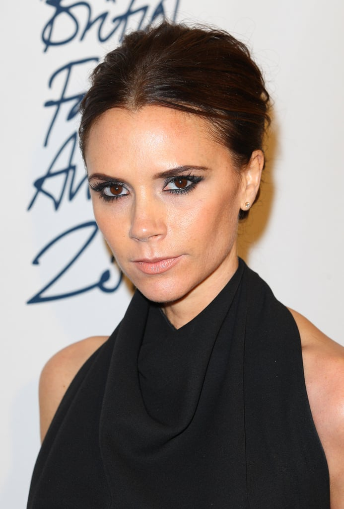 9bfe3361225 Victoria Beckham went for a sleek black look at the British Fashion Awards.