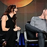 Juliette Lewis and Ryan Phillippe showed their off-screen chemistry while discussing their new ABC show Secrets & Lies at the TCAs in LA on Wednesday.