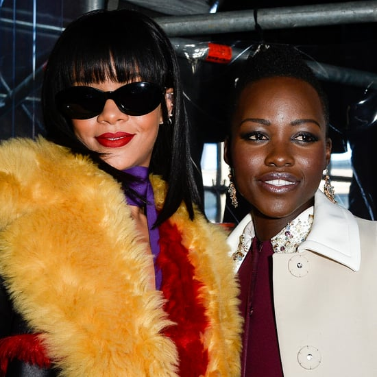 Lupita and Rihanna Front Row at Miu Miu on POPSUGAR Live!