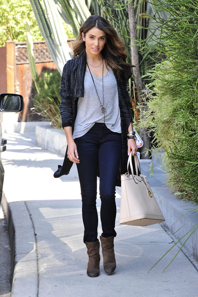 Nikki Reed carried a Henri Bendel bag while running errands in LA on Monday.