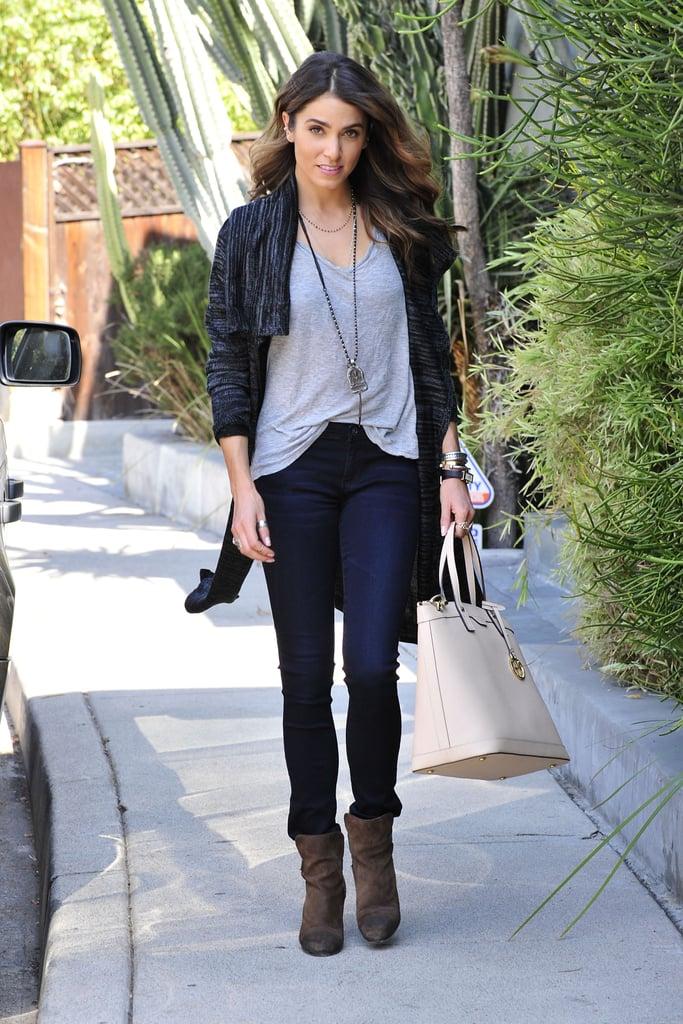 Nikki Reed carried a Henri Bendel bag while running errands in LA on Monday.
