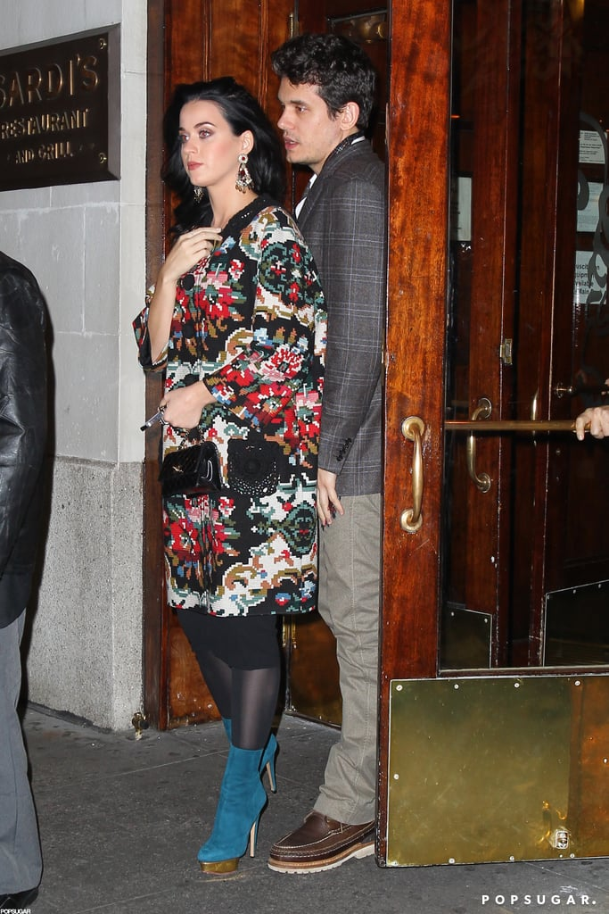 Katy Perry and John Mayer dined at Sardi's.