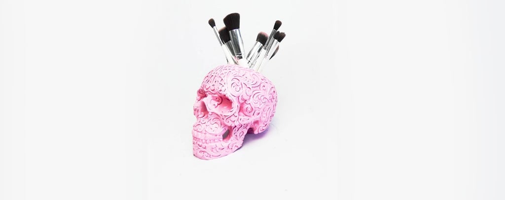 Skull Makeup Holders Are Creepy and Gorgeous at the Same Damn Time