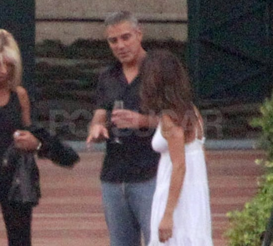 George Clooney and Elisabetta Canalis in a Thong Bikini
