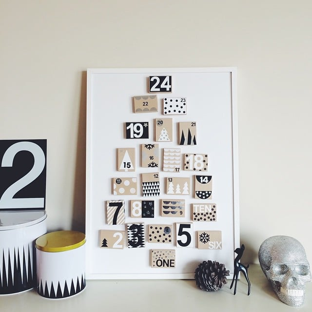 Pin small cardboard gift boxes to a framed foam board to achieve pin small cardboard gift boxes to a framed foam board to achieve this advent calendar negle Choice Image