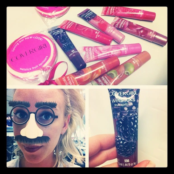 Looking fine, Alison! She did her best Groucho Marx when she received a bunch of new goodies from Covergirl.