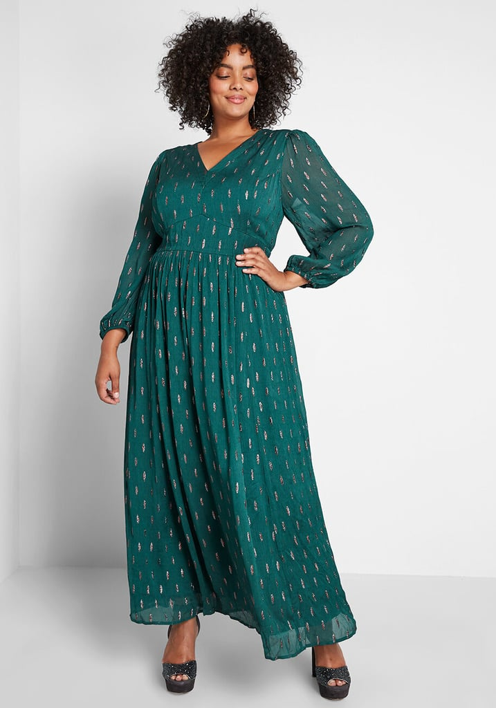 Modcloth Enchanted Evening Maxi Dress | Flattering Plus-Size ...